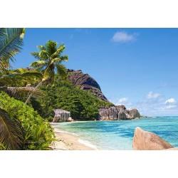 Puzzle Tropická pláž, Seychely