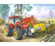 Puzzle Traktor nakladač - DĚTSKÉ PUZZLE