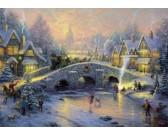 Puzzle Vesnička v zimě