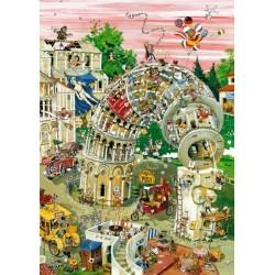 Puzzle Věž Pisa v pohybu - TRIANGULAR PUZZLE