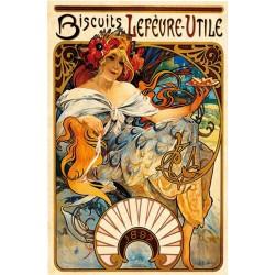 Puzzle Alfons Mucha - Oplatky Lefévre