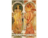 Puzzle Alfons Mucha - Champagne