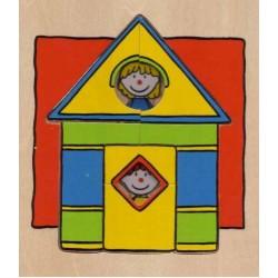 Puzzle Domeček - DŘEVĚNÉ PUZZLE