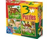 Puzzle Koně, prasata, krávy - DĚTSKÉ PUZZLE
