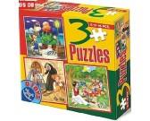 Puzzle Pinokio, Chaloupka, Sněhurka - DĚTSKÉ PUZZLE