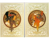 Puzzle Alfons Mucha - 2 obrázky