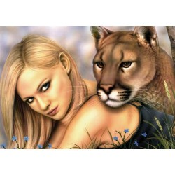 Puzzle Kráska a puma