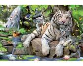 Puzzle Bílí tygři