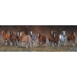 Puzzle Běžící koně - PANORAMATICKÉ PUZZLE