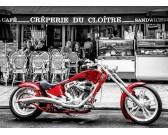 Puzzle Červená motorka