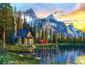 Puzzle Chata v horách