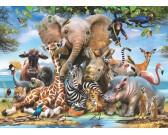 Puzzle Veselá africká zvířátka