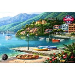 Puzzle Jezero Como, Itálie