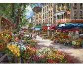 Puzzle Květinový trh v Paříži