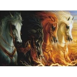 Puzzle Čtyři koně