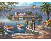 Puzzle Italské jezero