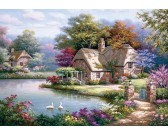 Puzzle Labutě na jezeře