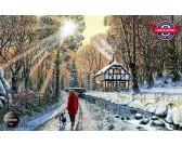 Puzzle Lesní cesta v zimě