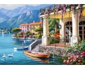 Puzzle Vila u jezera