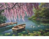 Puzzle Jarní pohoda u rybníka