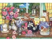 Puzzle Kočky v kuchyni