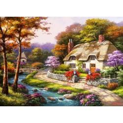 Puzzle Jaro na vesnici