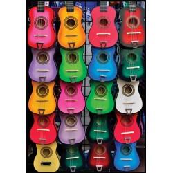 Puzzle Barevné kytary