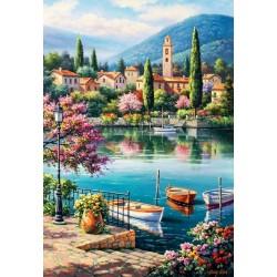 Puzzle Odpoledne u jezera Como