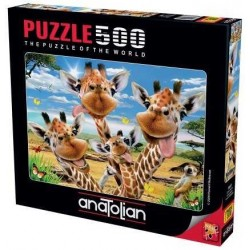 Puzzle Žirafí selfie