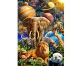 Puzzle Zvířata ve vesmíru