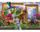 Puzzle Pohled do dinosauřího světa