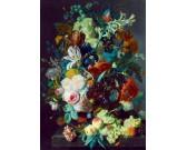 Puzzle Zátiší ovoce a květin