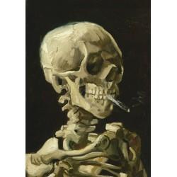 Puzzle Hlava kostry s cigaretou