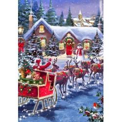 Puzzle Santa na saních