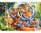 Puzzle Tygří rodinka