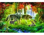 Puzzle Vlci v létě