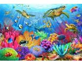 Puzzle Želvy u korálového útesu