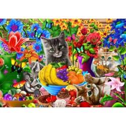 Puzzle Hravá koťátka