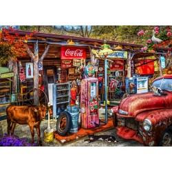 Puzzle Stará benzínová pumpa