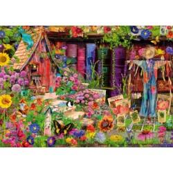 Puzzle Strašák v zahradě