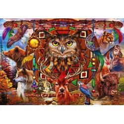 Puzzle Zvířecí totem