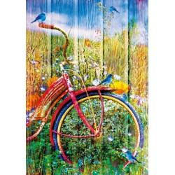 Puzzle Červené jízdní kolo