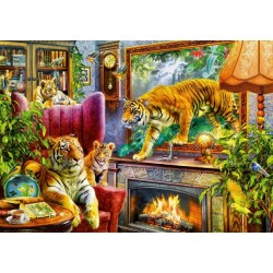 Puzzle Živý obraz - tygři