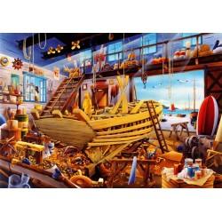 Puzzle Stavba lodi