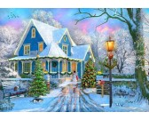Puzzle Na Vánoce doma