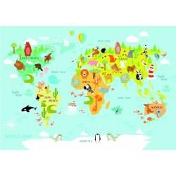 Puzzle Dětská mapa světa - DĚTSKÉ PUZZLE