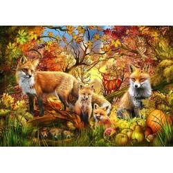 Puzzle Lišky na podzim