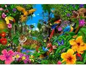 Puzzle Barevná džungle