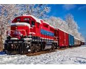 Puzzle Červený vlak