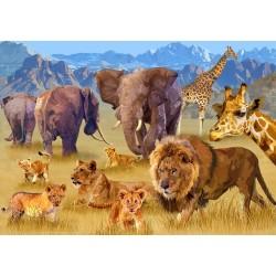 Puzzle Zvířata africké savany